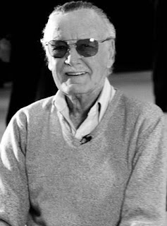 Stan Lee Black and White B&W Photograph Marvel Comics