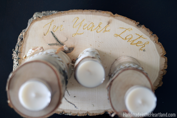 Wood Engraved Centerpieces with Dremel Micro #mybrilliantidea #clevergirls