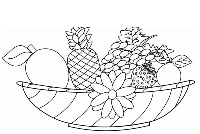 GambarBaru: Gambar Buah-buahan Untuk Diwarnai