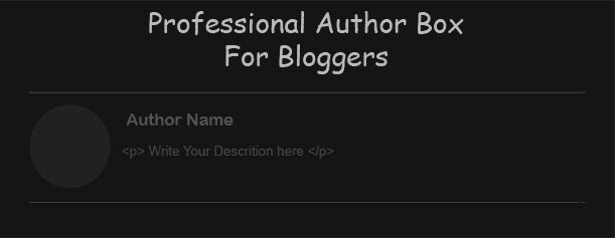 Author Below Posts for blogger