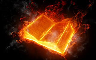 Fire Book wallpaper