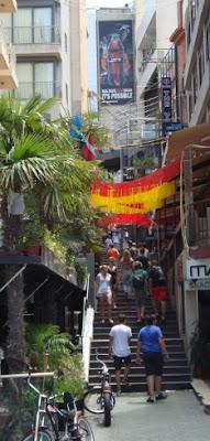 Calle de la fiesta en Malta