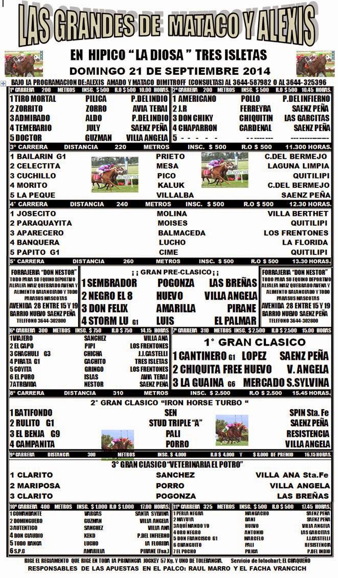 TRES ISLETAS DOMINGO PROGRAMA