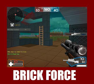 brick force jogo de tiro fps parecido com minecraft e unturned