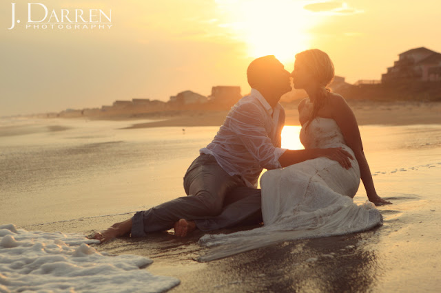 photo of a Trash the dress wedding session in Emerald Isle North Carolina