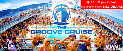 Groove Cruise Miami 2016 - discount code and onboard credit