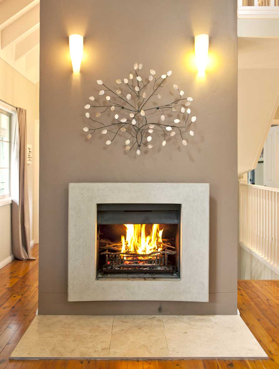 Matilda rose interiors fireplaces - Decorating ideas for fireplace walls ...