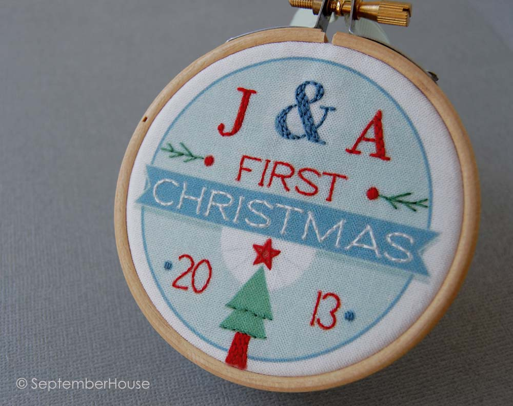 Personalized wedding christmas ornament - Personalized Our First Christmas Ornament