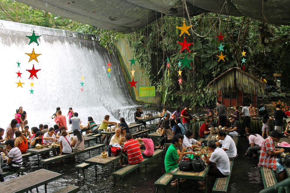 Villa Escudero The Waterfall Resturaunt In Phillippines
