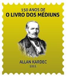 selo comemorativo dos 150 anos do livro dos médiuns