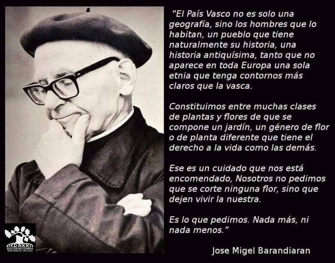 PENSAMIENTOS ~ JOSÉ MIGUEL DE BARANDIARAN