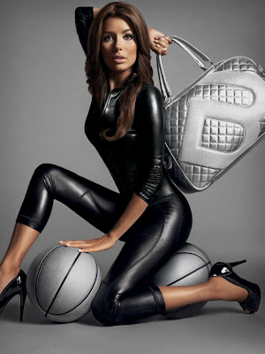Eva Longoria Smokin Hot in Black Latex Catsuit