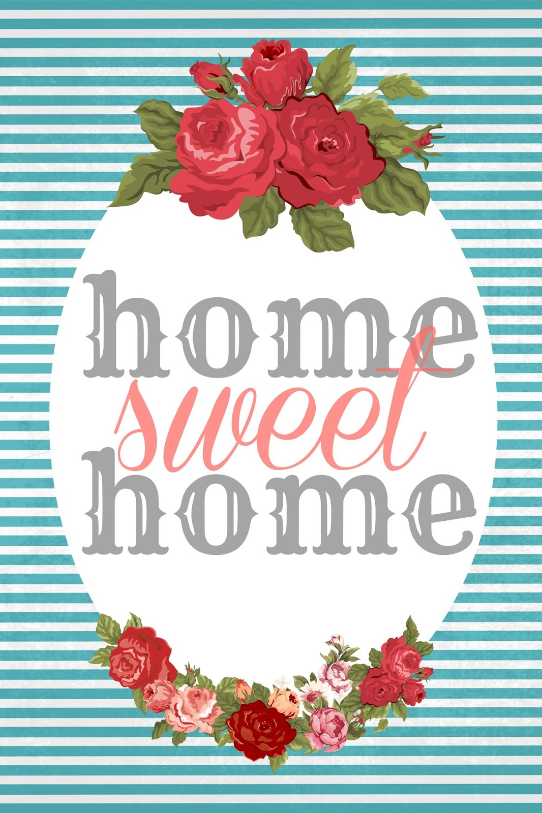 This is a picture of Canny Home Sweet Home Printable
