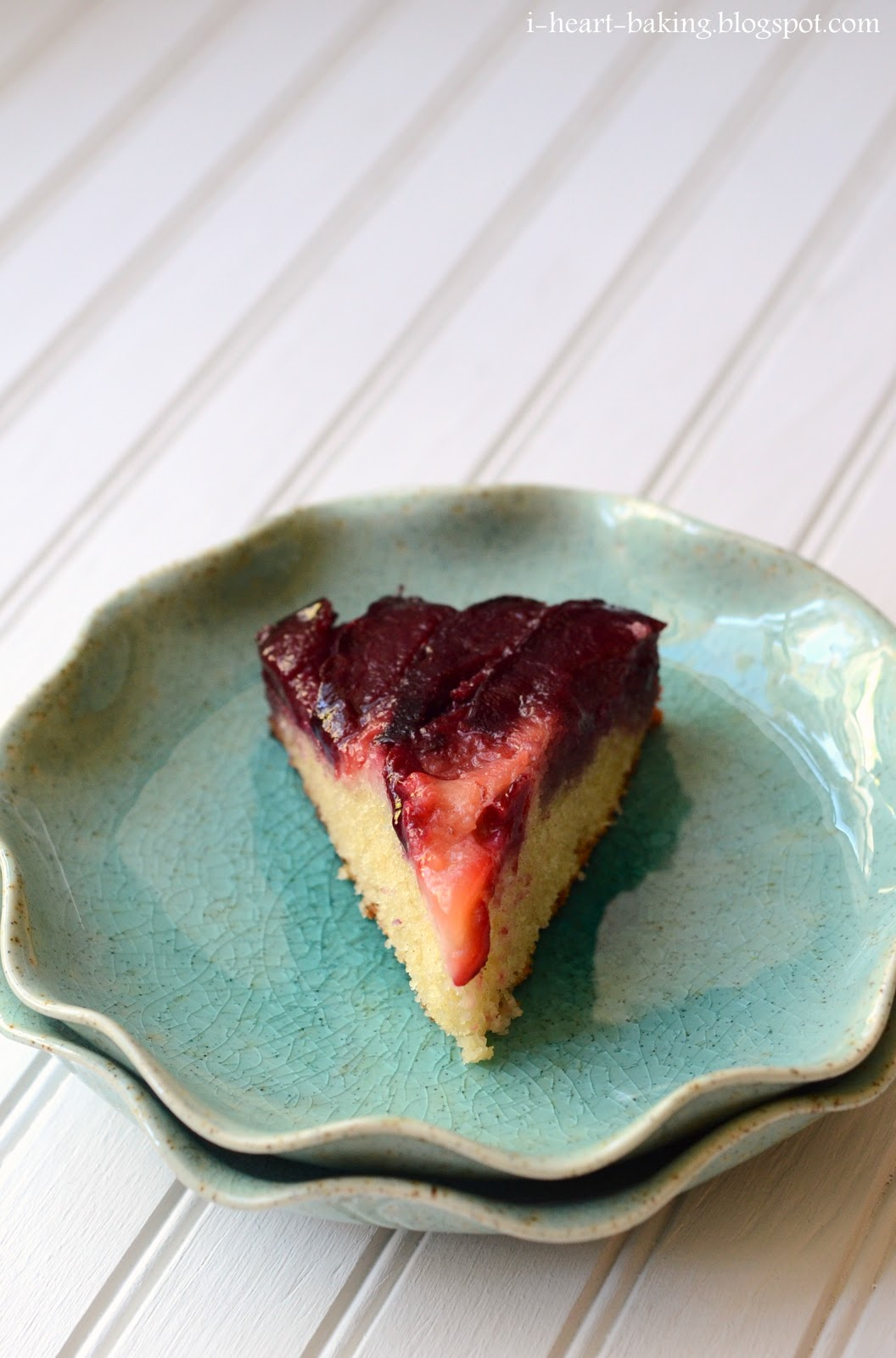 heart baking!: plum upside down cake
