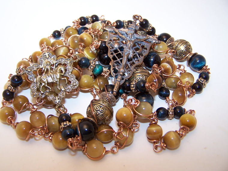 Rosary Of St. George- NEWLY LISTED- Unusual Platunum Tiger Eye