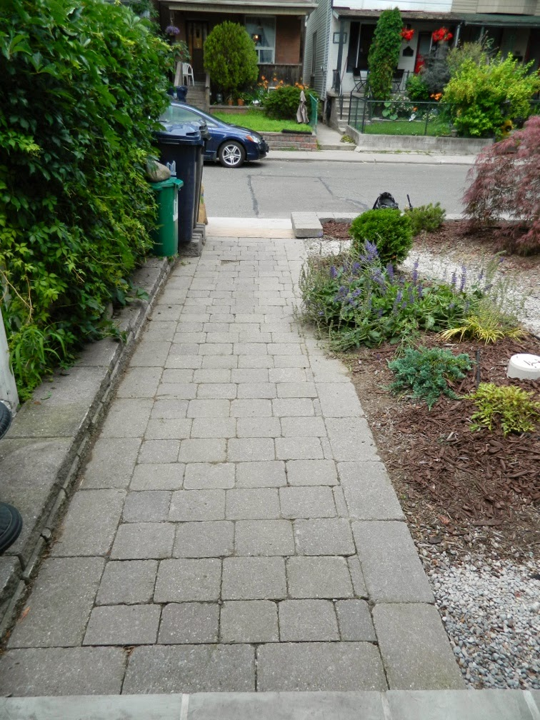 Paul Jung Gardening Services Toronto Leslieville garden cleanup front path after