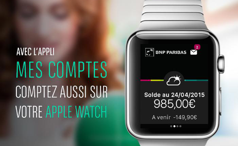 BNP Paribas sur Apple Watch