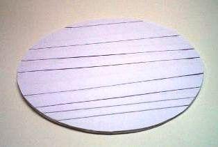 dasar gelas atau nampan dari kertas