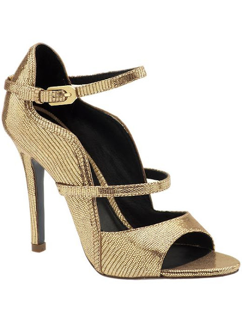 Gold Color Shoe