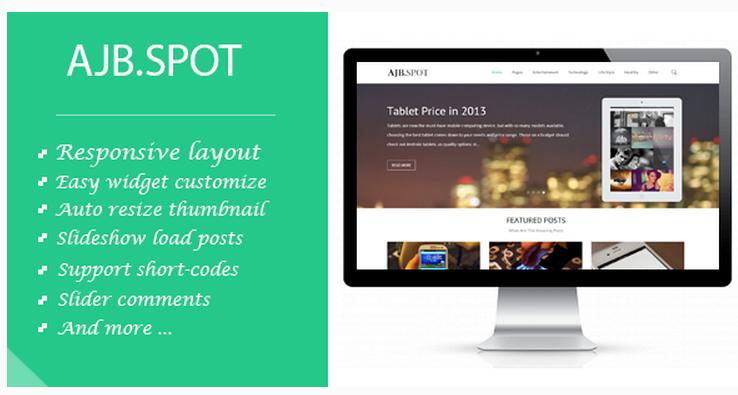 Ajbspot-Responsive Blogger Template