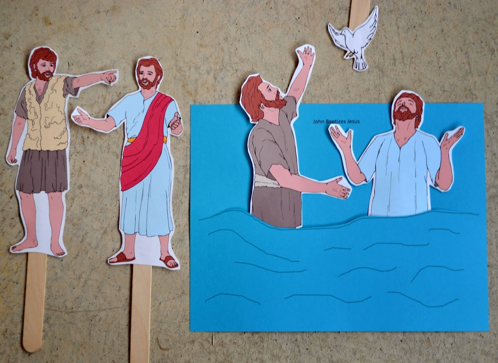 Bible fun for kids preschool alphabet w is for water for John the baptist craft for kids