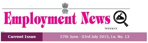 Employment News 2015