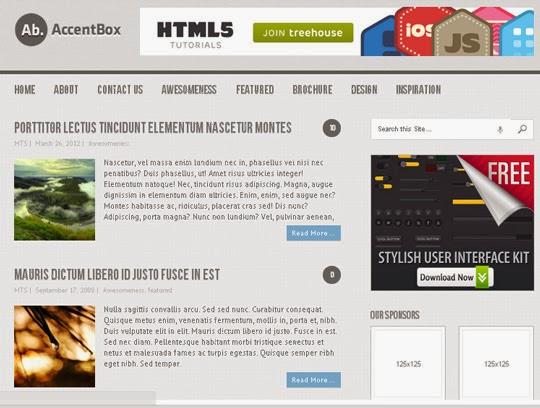 Theme WordPress miễn phí đẹp hỗ trợ HTML5