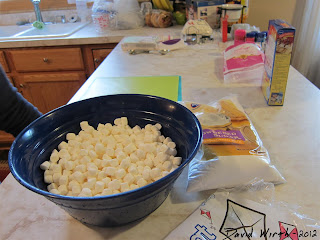 all ingredients set out to make fondant, fondant cake, cake pops, how to make cake pops