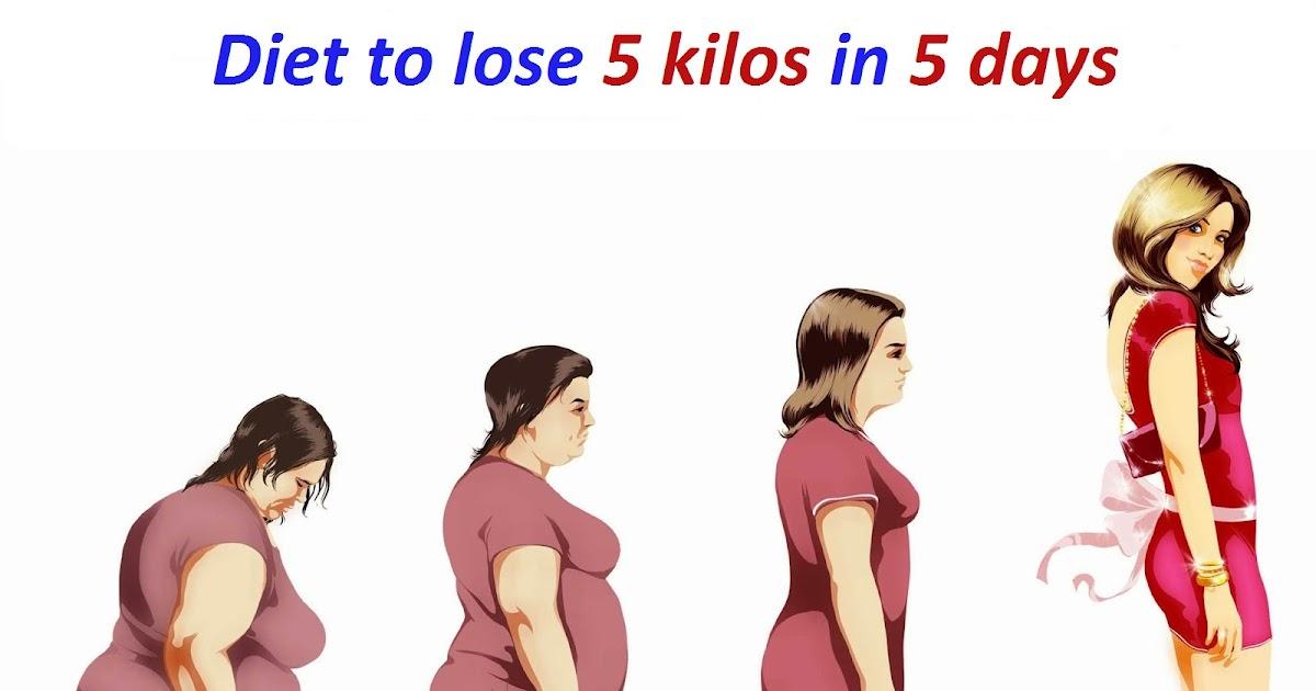 Diet to lose 5 kilos in 5 days