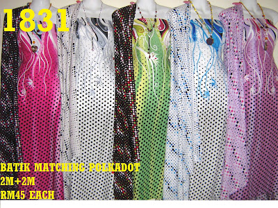 BPM 1831: BATIK POLKADOT MATCHING, 2M+2M, 5 COLOR