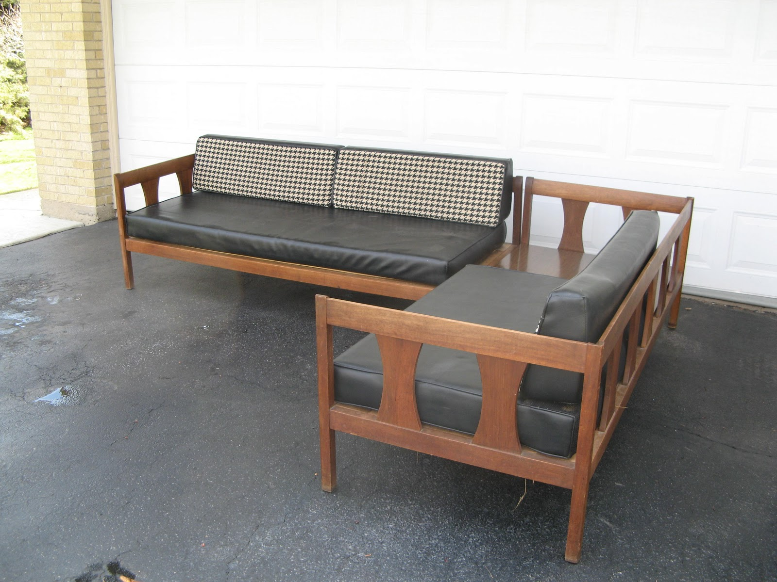 MidCenturyModernManiagmailcom Mid Century Corner Sectional With - Sectional with built in table