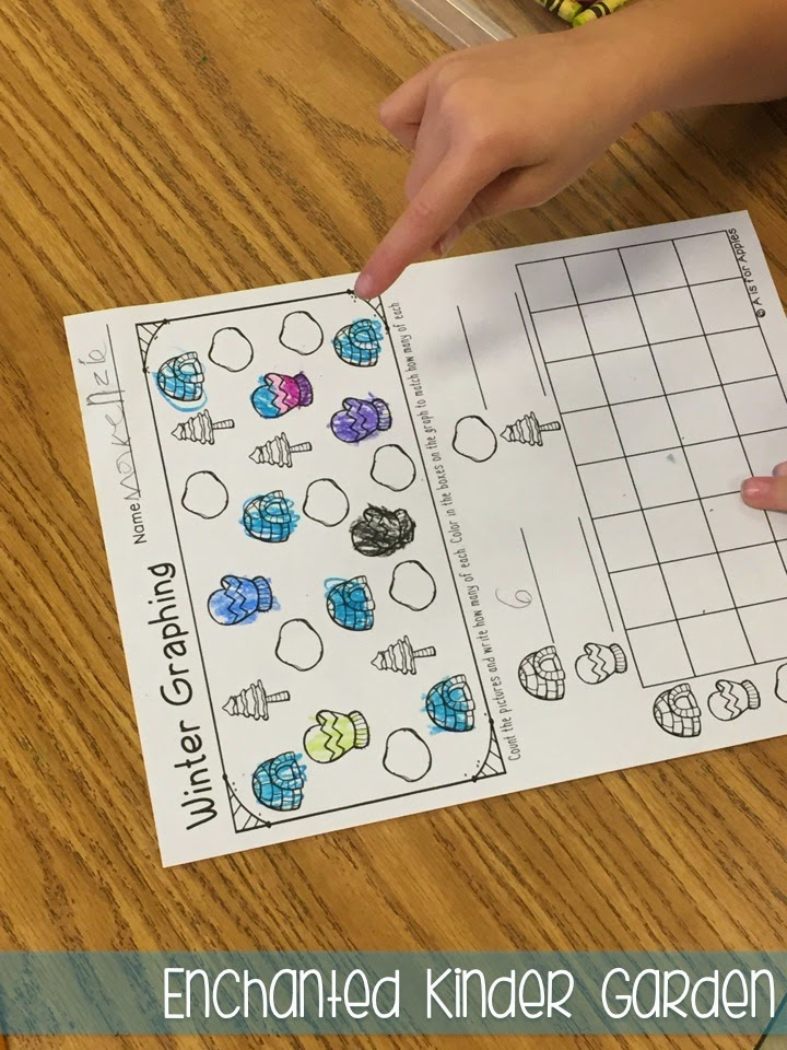 This is a photograph of a kindergarten graphing activity.