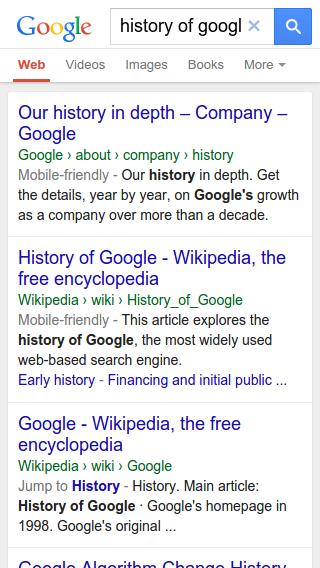 Google cambia las urls en los resultado de búsqueda