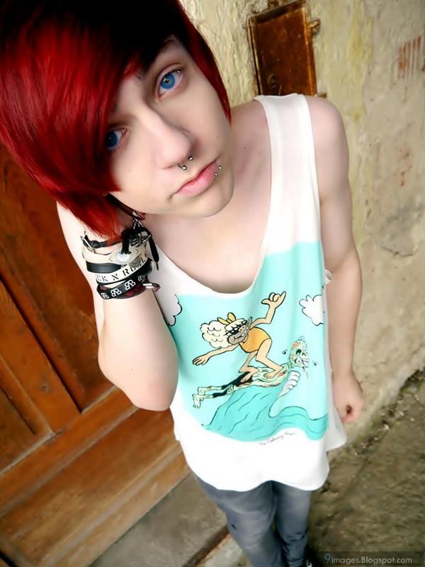 Cute Pierced Gay Emo Wankjob