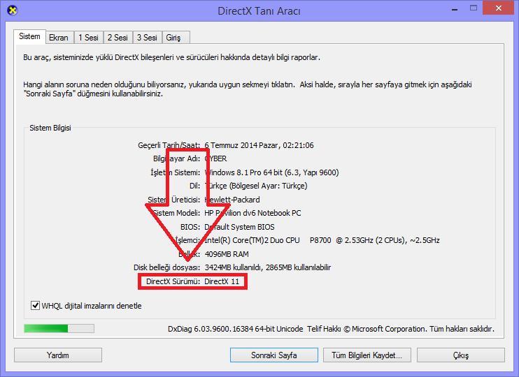 Windows 8.1 DirectX