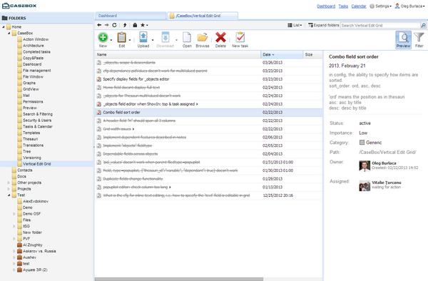 CaseBox: Content Management Platform