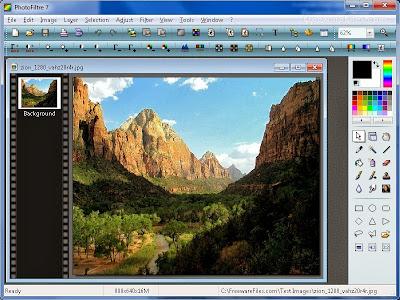 تحميل برنامج التعديل على الصور المجاني  واضافة لمسات عليها PhotoFiltre 7.1.2