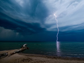 Lighting over Ocean