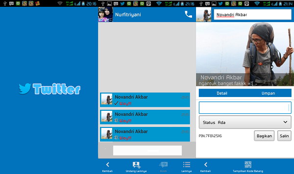Download BBM Mod Twitter v2.5.0.32