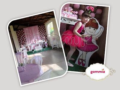 desenho personalizado em display Gommiz