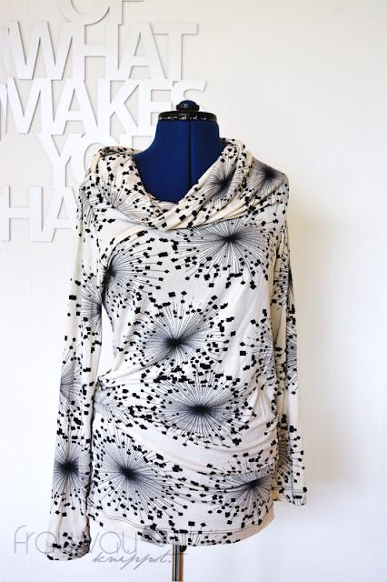Asymmetrisches Schlauchshirt - Burda 4/2014, Modell 111 @frauvau.blogspot.de