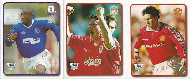 Football cartophilic info exchange topps merlin f a for Prem league table 99 00