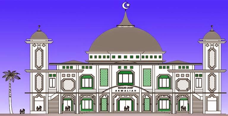 Masjid yang megah dan indah dambaan setiap jamaah