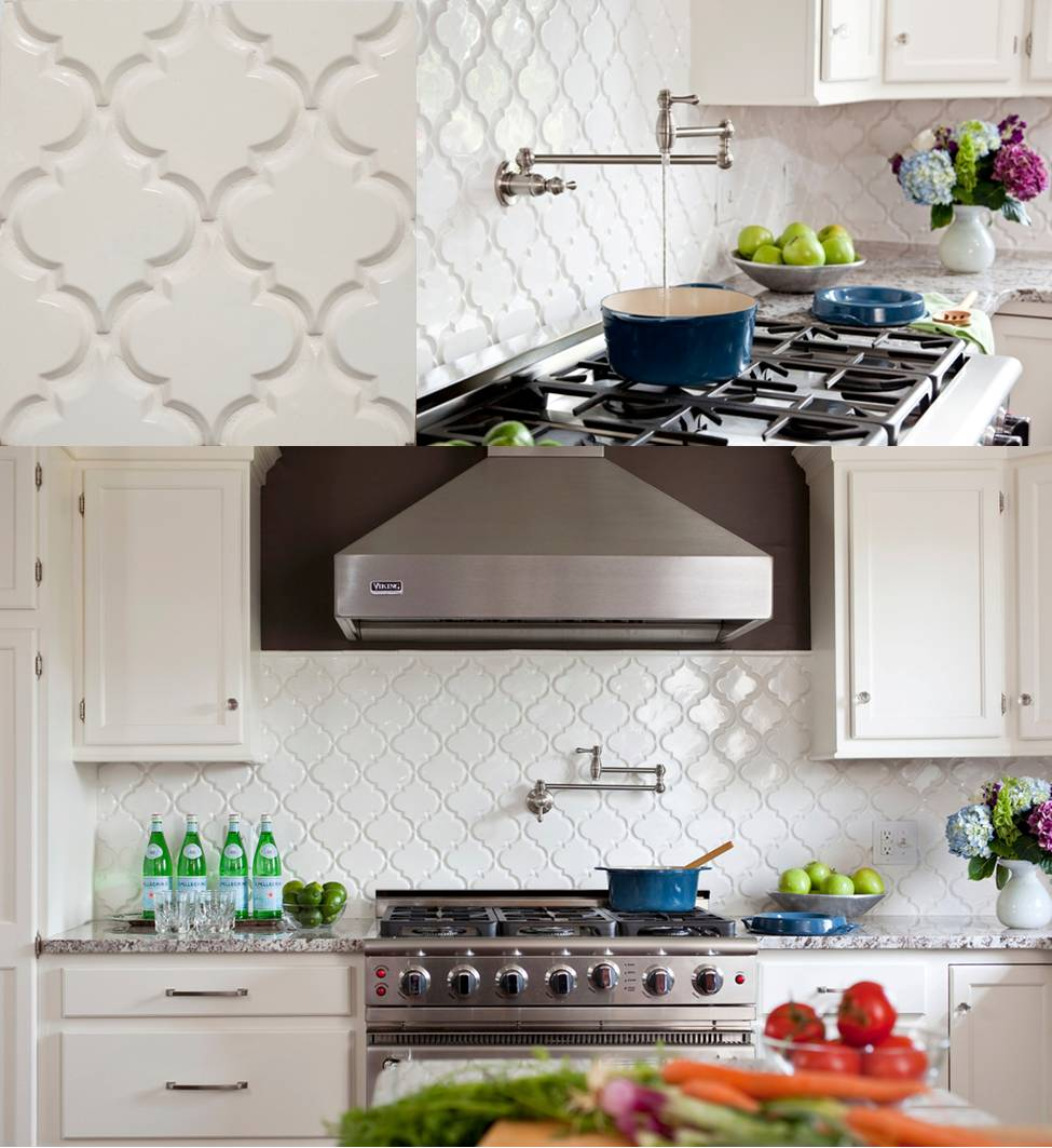 This Old Coconut Grove Beveled Arabesque Glazed Ceramic Wall Tile