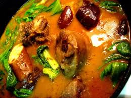 kare kare a popular beef stew during special filipino occasion,usually served with bagoong and any other special dishes
