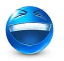 Blue emoticons facebook