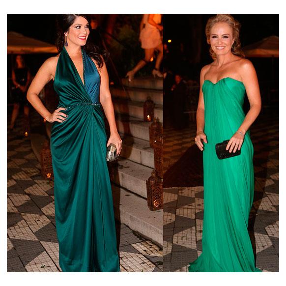 Vestido longo verde angelica