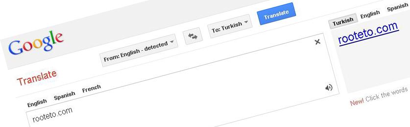 google translate rooteto Dünyanın en iyi çeviri siteleri Google ve Bing Translate