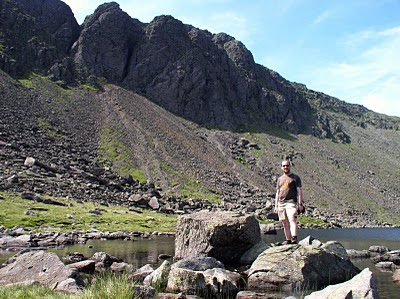 Standing below Dow Crag next to Goat's Water, one of my favourite tarns in the Lake District