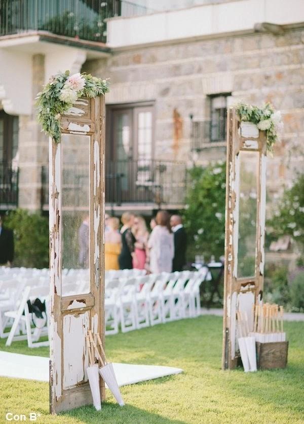 Con b de boda puertas para decorar una boda - Decorar una entrada ...